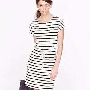 J Crew Nautical Striped Drawstring Tunic Dress